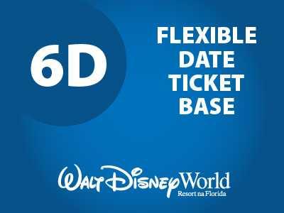 Ingresso Disney Básico Flexível - 6 Dias