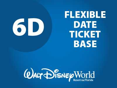 Ingresso Disney Park Hopper Flexível - 6 Dias